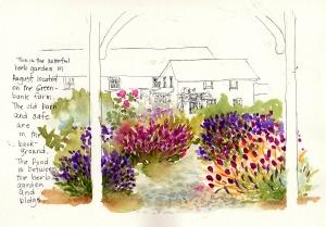 Herb garden at Greenbank Farm