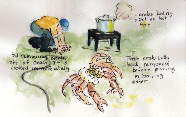 Cleaning crabs